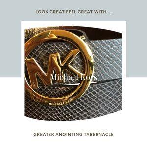 💥💥Gold Buckle MICHAEL Michael Kors fashion belt.